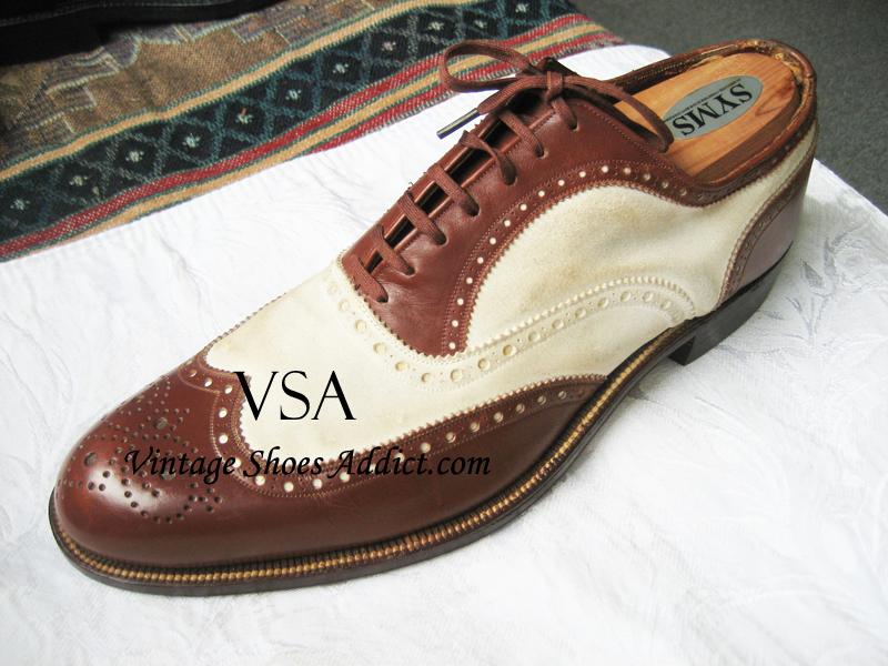 Spectator Shoes: Men's Vintage Antique