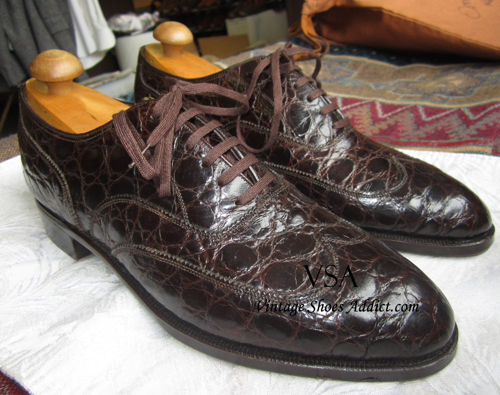 Crocodile Shoes & Alligator Mens Shoes from a Vintage ...